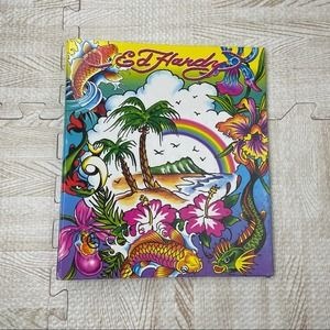 Lisa Frank x Ed Hardy Y2K Beach Rainbow Binder
